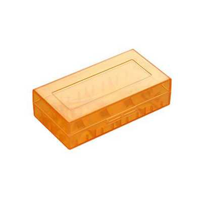 Пластиковый кейс на два аккумулятора 18650 (Оранжевый)