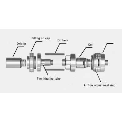 Атомайзер Uwell Crown 0,25 Ohm RBA (Стальной)