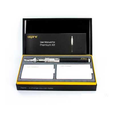 Электронная сигарета Aspire Premium Kit (Варивольт) (Черный карбон) (Стартовый набор)