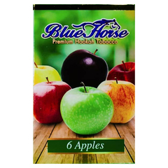 Blue Horse 6 Apples 50г - Табак для Кальяна