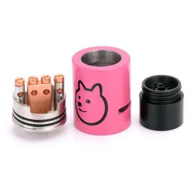 Атомайзер Doge v3 RDA (Розовый) Clone