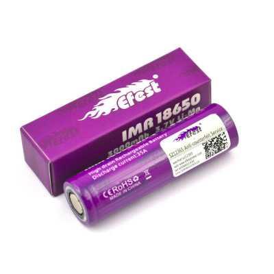 Аккумулятор 18650 Efest IMR 2500mAh, 35A (Clone)