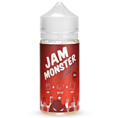 Jam Monsters Strawberry 120мл (3) - Жидкость для Электронных сигарет (Clone)
