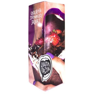 Сласти В Пасти Chocolate Strawberry Dessert 100мл (3мг) - Жидкость для Электронных сигарет