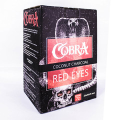 Уголь для Кальяна Cobra Red Eyes 25 (72шт)