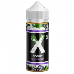 X-3 Yoghurt Blackberry 120мл (3мг) - Жидкость для Электронных сигарет